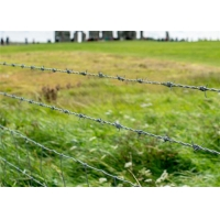 China Crossed Wire Fence 16 Gauge Galvanized Barbed Wire on sale