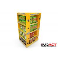 Durable Recycled Cardboard Pallet Display 3 Shelfs For Bombs Agent