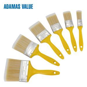 Quality Professional Paint Flat Brush Plastic Handle PET Fibre Bristles For Painting for sale