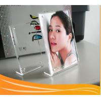 Quality L shape tabletop acrylic picture frame for sale