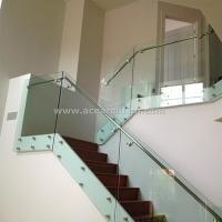 Quality Indoor Standoff Glass Railing Stainless Steel Staircase Railing Price India for sale