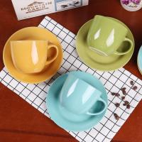 Quality customized promotion ceramic tea cup set and porcelain ceramic espresso coffee cup and saucer set for sale