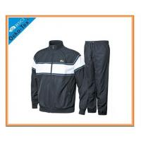 Quality Black Cotton Polyester Sports Tracksuits hooded sweatshirts for men for sale
