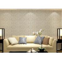 China Colorful Floral Non woven European Style Wallpaper room design Wet embossed wholesale