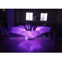 Quality 1.5m LED Flower Inflatable Lighting Balloon With Base Blower Oxford Cloth for sale