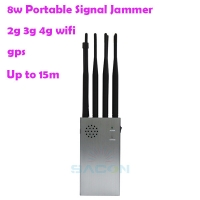 Quality 8000mAH 15m Portable Cell Phone Signal Interrupter 315 433 for sale