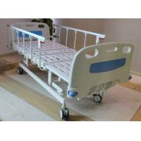 """Quality ABS head and foot board 5"""" castors 4 cranks hospital medical bed with aluminum side rails for sale"""
