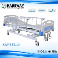 Quality 3 Cranks Manual Type Hospital Care Bed Height Adjustable With Food Dinner Board for sale