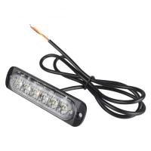 Quality Universal super thin 6-LED Amber/White Flashing Mode Car Truck Warning Caution Emergency Strobe Light for sale