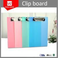 Quality China manufacturer cheap customized design office stationery OEM plastic A4 clip board for sale
