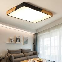 Quality Square Wood veneer ceiling light fixtures for ndoor home Lighting Fixtures (WH-AC-04) for sale