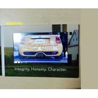 "Quality 4.3"" Lcd Invitation Video Card / Video Brochure Module , Glossy Hard Lamination Paper for sale"