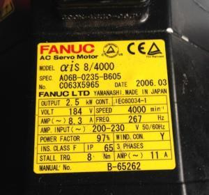 A06B-0235-B605 FANUC A06B-0235-B605 Servo Motor