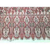 """Quality Machine knitted Jacquard  Eyelash Lace Trim 150cm / 60"""" Wide Embroidery Wedding Lace Trim for sale"""