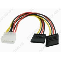 Quality Wire Cable Assembly IDE 4Pin Male to 15Pin Dual SATA For Hard Disk for sale