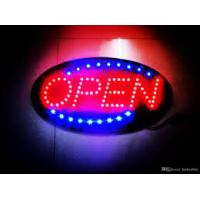 Buy cheap Two Sided Scroll LED Open Sign With Hanging Chain Rectangular Red Blue Lighting from wholesalers