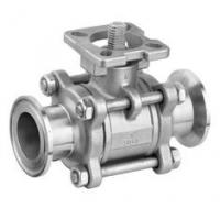 Quality SS 3PC Clamp End Ball Valves with ISO5211 Mounting Pad , CF8M / CF8 / WCB Material for sale