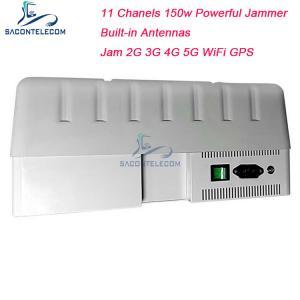 Quality GPS WiFi Signal Jammer 150w High Power 11 Channels 2G 3G 4G 5G 5.8G Signal Blocker for sale