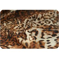 Quality Leopard Print Velvet Chiffon Fabric for sale