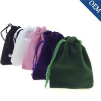 China Custom printed velvet drawstring pouch fabric gift bags wholesale jewelry velvet pouch on sale