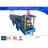 China 0.4-0.8mm Thickness Color Aluminum Half Round Gutter Roll Forming Machine on sale