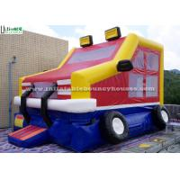 China Kids Parties Car Castle Inflatable Bounce Houses with 0.55MM PVC Tarpaulin wholesale