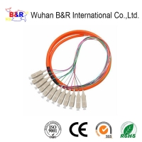 Quality OM3 12 Cores SC Pigtail Single Mode For FTTH Solution for sale