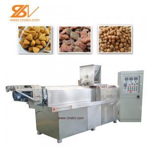 Quality SLG65 Pet Food Extruder Making Machine , Pet Extruder Machine 38CrMoAlA Screw Material for sale
