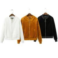 China New style quilted cotton outdoor velvet bomber jacket women on sale