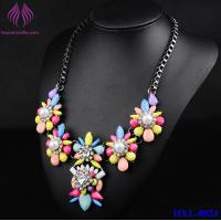 Buy cheap Colorful Candy Color Bead Flower pearl Necklace lady party Jewelry from wholesalers