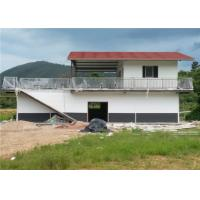 Buy One And A Half Floor Steel Frame Small House / Light Steel Prefab House With Balcony at wholesale prices