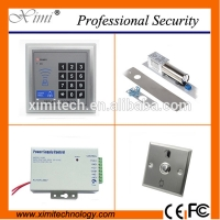Quality Good quality standalone access control set with 12V 3A power supply,electric bolt lock, door exit button access controller kit for sale