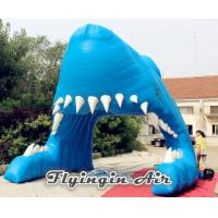 High Quality Advertising Inflatable Shark Tunnel for Football and Events