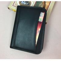 China A5 Size Sheep Skin Imitation Leather Document Folder With Front Pocket on sale