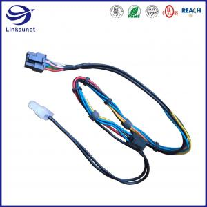 Quality Office Equipment Wiring Harness with Mini Fit Jr 5559 2rows 4.2mm Male Pin Connectors for sale