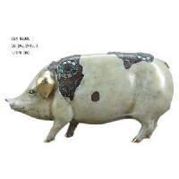 China Home Decoration Polyresin Pig Figirine (D24-99006) on sale
