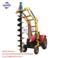 China Lifting Tractor Operated Post Hole Digger / Highway John Deere Auger Post Hole Digger on sale