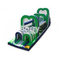 China Green Inflatable Assault Course Obstacles Plato 0.55mm PVC Material Durable wholesale