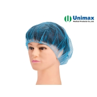 """Quality UNIMAX 23"""" Non Woven Bouffant Cap 10 Gsm for sale"""