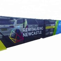 China Vinyl Mesh Banner Printing Portable Large Vibrant Signage Weatherproof on sale