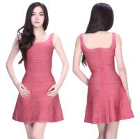 Quality Quality approval newest hot sell lovely pink short bodycon bandage dress for sale