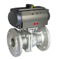 Quality 304 316 Sanitary Stainless Steel Pneumatic Actuator Ball Valve for sale