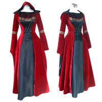 Quality Medieval Dress Wholesale XXS to XXXL Red Gothic Renaissance Medieval Victorian Evening Dress Costume Cosplay for sale