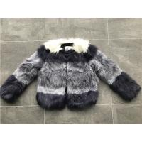Quality Short Style Violet Ombre Ladies Fake Fur Coats Collarless Fashion Design for sale