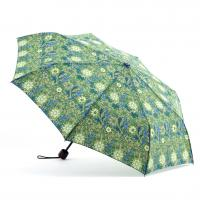 Printed Flat Mini Manual Open Umbrella , Easy Open Close Umbrella Plastic Handle