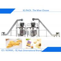 Potato Chips Packing Machine , 50g To 200g Back Seal Bag Auto Packing Machine