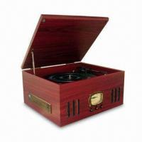 China Nostalgia Wooden Music Center with Turntable, AM/FM Radio, Side CD/MP3 Player, Slot-in Type Cassette on sale
