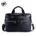 Quality Guangzhou factory handmade leather bag business man shoulder bags leather laptop handbag for sale