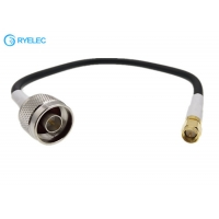 Quality Straight SMA Male To N male Witn LMR240 Ultraflex Coaxial Cable Telecom RF Feeder Cable for sale