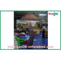 China Vivid Brown Inflatable Mushroom with LED light Inside for Show Decoration on sale